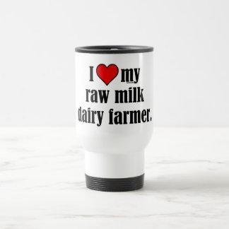 Heart Raw Milk Farmer Stainless Steel Travel Mug