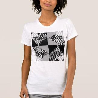 Heart Retro Shatter Black White T-Shirt