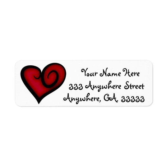 Heart return address labels