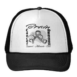 Heart Ribbon - Brain Cancer Awareness Cap