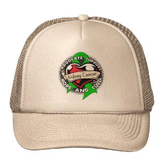 Heart Ribbon - Kidney Cancer Trucker Hats