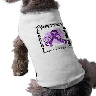 Heart Ribbon - Pancreatic Cancer Awareness Doggie Tee Shirt