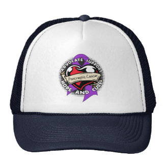 Heart Ribbon - Pancreatic Cancer Hat