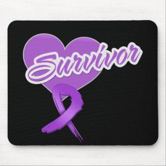 Heart Ribbon - Pancreatic Cancer Survivor Mouse Pad