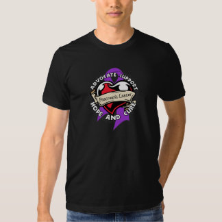 Heart Ribbon - Pancreatic Cancer T Shirts