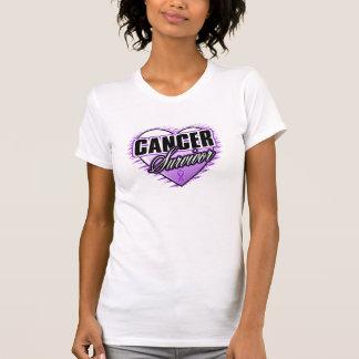 Heart Ribbon Survivor Pancreatic Cancer Tee Shirts
