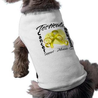 Heart Ribbon - Testicular Cancer Awareness Dog Clothing