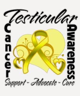 Heart Ribbon - Testicular Cancer Awareness Shirt