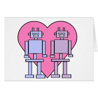 Heart Robots Greeting Card