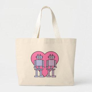 Heart Robots Jumbo Tote Bag