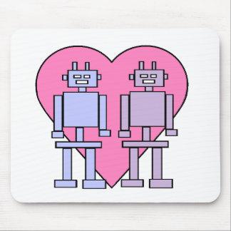 Heart Robots Mouse Pad