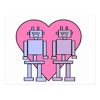 Heart Robots Postcard