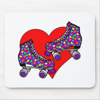 Heart Rollerskates Mousepads