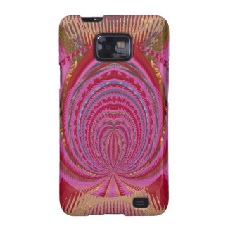 Heart Romance Love EMBLEM PinK PurpLE  Satin Silk Samsung Galaxy S2 Cover