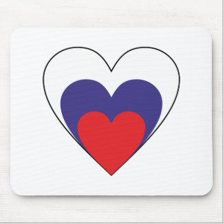 Heart Russia heart Russia Mouse Pads
