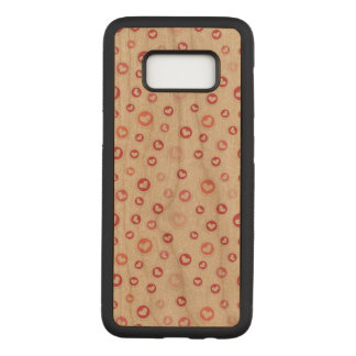 Heart Samsung Galaxy S8 Slim Cherry Wood Case