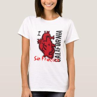 Heart San Francisco California ladies tank