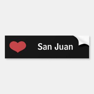 Heart San Juan Bumper Sticker