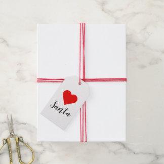 Heart Santa Gift Tags