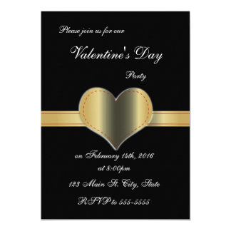 Heart Sash Valentine's Day Invitations
