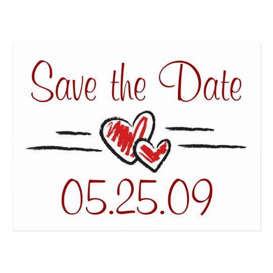 Heart Save the Date Postcard