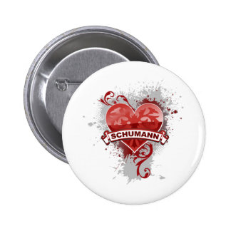 Heart Schumann Pinback Buttons