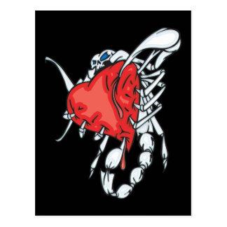 Heart Scorpion Postcards