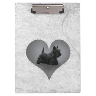Heart Scottie Clipboard