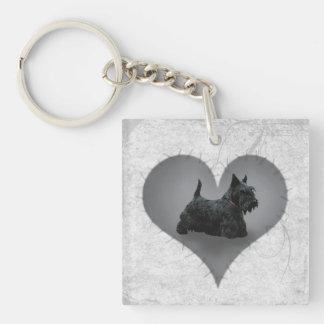Heart Scottie Acrylic Keychains