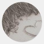 Heart Sepia Image Classic Round Sticker