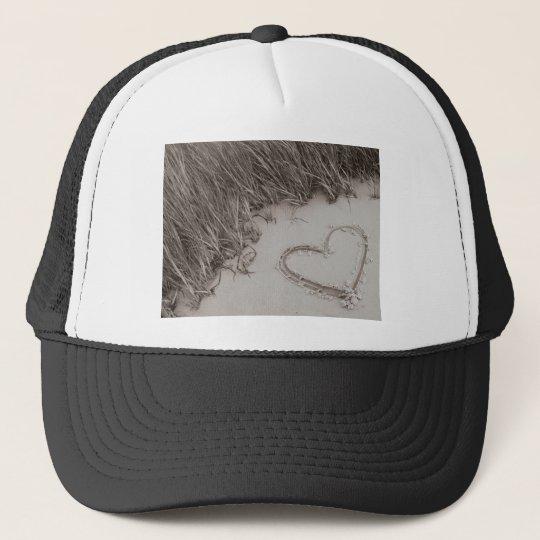 Heart Sepia Image Trucker Hat