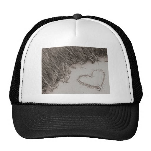 Heart Sepia Image Trucker Hat