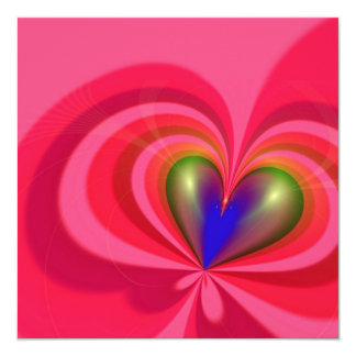 Heart Shape 13 Cm X 13 Cm Square Invitation Card