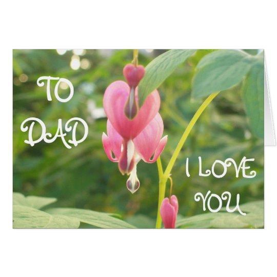 Heart shape Flowers Card