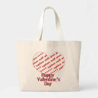 Heart Shape Frame Jumbo Tote Bag
