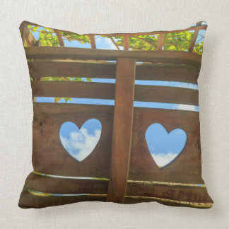 Heart shape in a fence, Belize Cushion