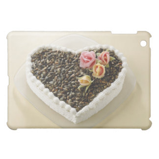 Heart shape wedding cake with flower, close-up case for the iPad mini