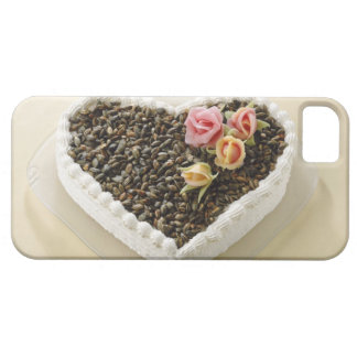 Heart shape wedding cake with flower, close-up iPhone 5 cover