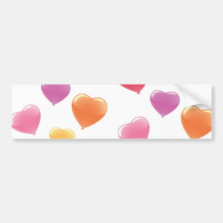 Heart Shaped Balloons Bumper Sticker