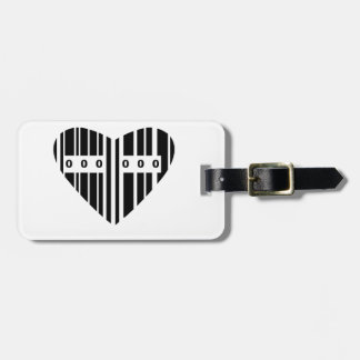 Heart Shaped Barcode Luggage Tag