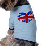 Heart Shaped British Flag Pet Clothing