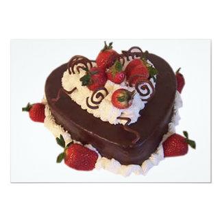 HEART SHAPED CAKE INVITATION