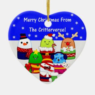 Heart-Shaped Ceramic Christmas Ornament