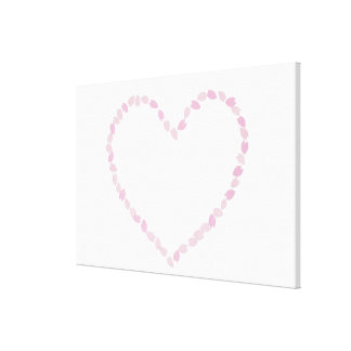 Heart Shaped Cherry Blossom Canvas Print