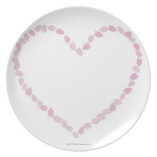 Heart Shaped Cherry Blossom Dinner Plate