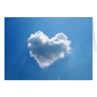 Heart shaped cloud in the sky card