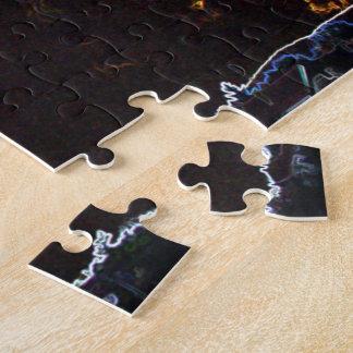 Heart-Shaped Cloudburst (Dark, Surreal) Puzzle