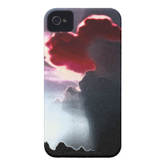 Heart-Shaped Cloudburst RED Blackberry Bold Case iPhone 4 Cases