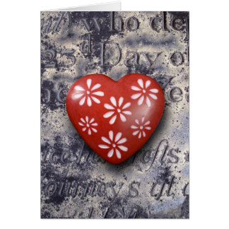 heart-shaped collection 14 greeting card