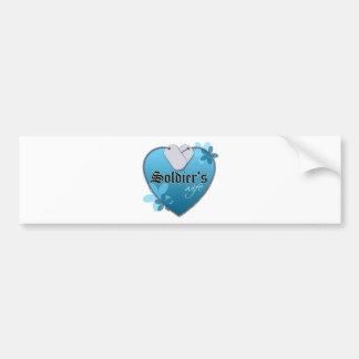 Heart Shaped Dog Tags Bumper Sticker